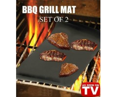 BBQ Grill Mat Pack Of 2 Sets
