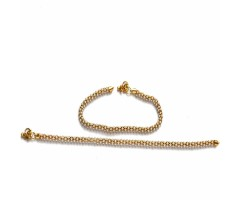 Bridal Anklet  of Kundan Pearls