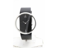 CK Transparent Glass Leather Watch