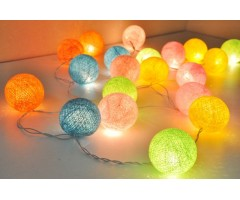 Cotton thread Balls and Hearts with LED lights