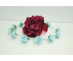 Floral Light Blue Tiara