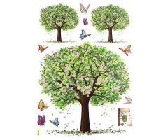 3D Musical Tree home decor wall stickers