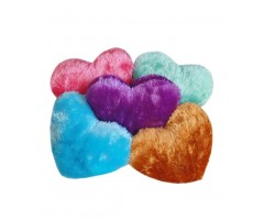 Home Fab Fur Heart Shape Special Pillows - Set Of 5