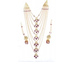 Nizami Saatlada With Ruby And Pearls