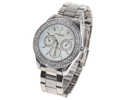 Fashion Women's Watch with Rhinestone Decoration Quartz