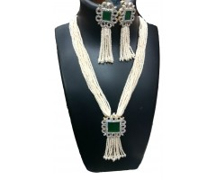 Royal Emerald Pearl Necklace