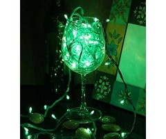 Warm Fairy Lights Green color